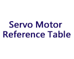 Servo Motor Reference Table - Reference (Information)